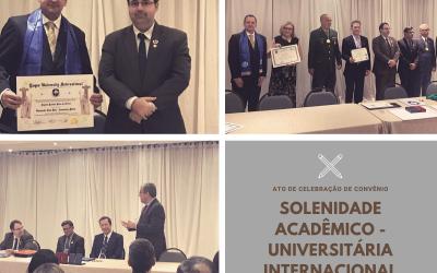 Solenidade ACADÊMICO– Universitária Internacional
